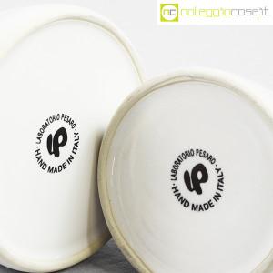 Ceramiche Bucci, set olio e aceto in ceramica bianco, Franco Bucci (9)