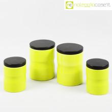 Ceramiche Pozzi set barattoli giallo/verde