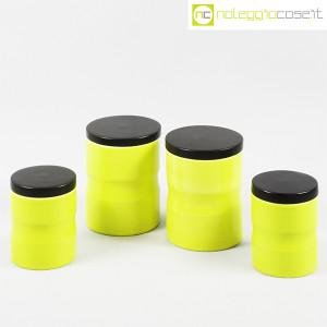 Ceramiche Franco Pozzi, set barattoli giallo-verde con tappo, Ambrogio Pozzi (1)