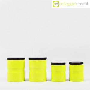 Ceramiche Franco Pozzi, set barattoli giallo-verde con tappo, Ambrogio Pozzi (2)