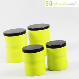 Ceramiche Franco Pozzi, set barattoli giallo-verde con tappo, Ambrogio Pozzi (3)