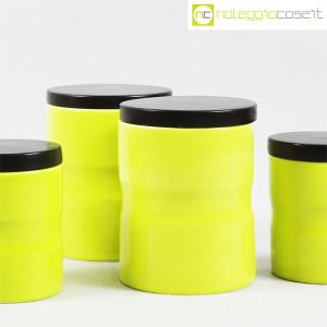 Ceramiche Franco Pozzi, set barattoli giallo-verde con tappo, Ambrogio Pozzi (6)