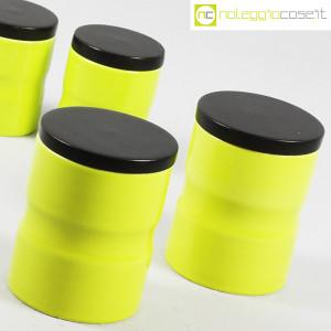 Ceramiche Franco Pozzi, set barattoli giallo-verde con tappo, Ambrogio Pozzi (7)