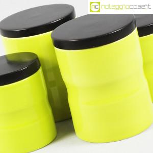 Ceramiche Franco Pozzi, set barattoli giallo-verde con tappo, Ambrogio Pozzi (8)