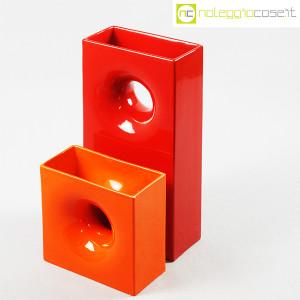 Gabbianelli, coppia vasi colorati con foro, Franco Bettonica (4)