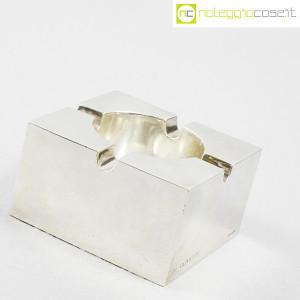 Olivetti (produzione Bulgari), posacenere in metallo cromato (3)