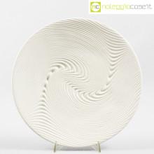 SIC Ceramiche piatto bianco a rilievo