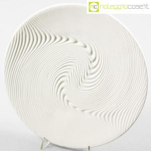 SIC Ceramiche Artistiche, piatto bianco con decoro a rilievo (4)