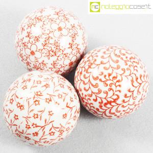 Sfere in ceramica, set rosso (4)