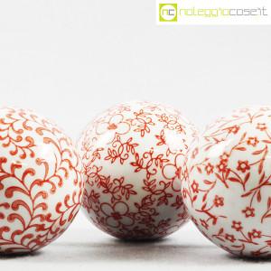 Sfere in ceramica, set rosso (6)