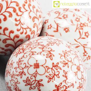 Sfere in ceramica, set rosso (8)