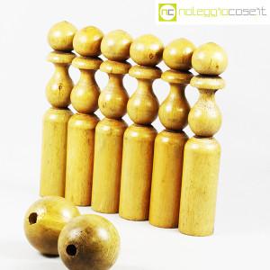 Birilli e sfere in legno per bowling vintage (4)