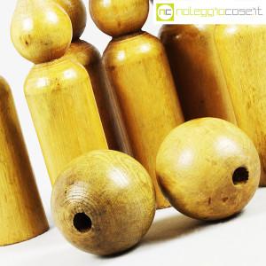 Birilli e sfere in legno per bowling vintage (6)