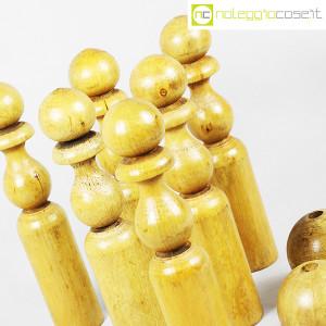 Birilli e sfere in legno per bowling vintage (8)