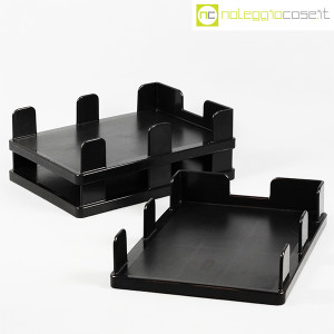 Olivetti, vaschette portadocumenti serie Synthesis nere, Ettore Sottsass (3)