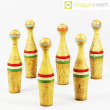 Birilli in legno con tricolore