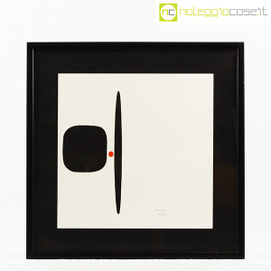 Bruno Munari, litografia serie Segnici (sfondo bianco) (1)