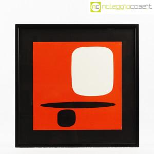 Bruno Munari, litografia serie Segnici (sfondo rosso) (1)
