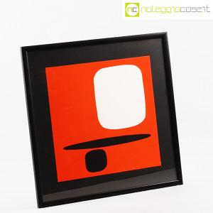 Bruno Munari, litografia serie Segnici (sfondo rosso) (2)