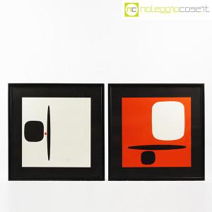 Bruno Munari, litografia serie Segnici (sfondo rosso) (9)