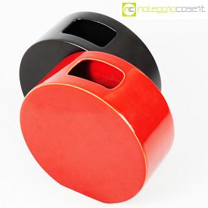 Ceramiche Franco Pozzi, vasi nero e rosso serie Strutture Primarie (4)