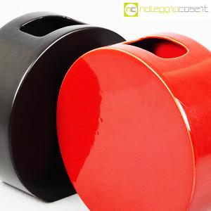 Ceramiche Franco Pozzi, vasi nero e rosso serie Strutture Primarie (5)