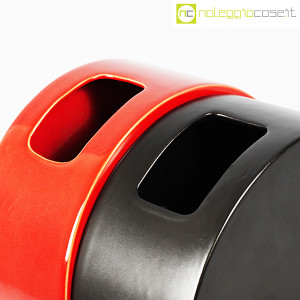 Ceramiche Franco Pozzi, vasi nero e rosso serie Strutture Primarie (6)