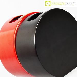 Ceramiche Franco Pozzi, vasi nero e rosso serie Strutture Primarie (7)