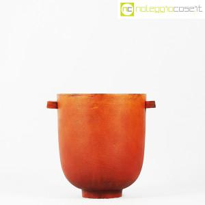 Vaso in metallo color ruggine (2)