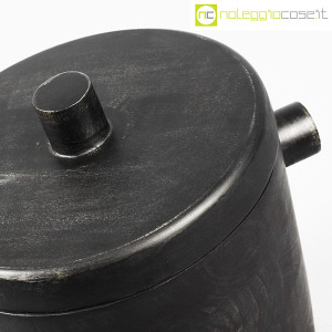 Contenitore porta ghiaccio in legno nero (8)