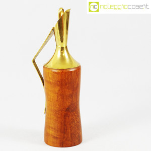 Macabo, brocca termica in legno e ottone, Aldo Tura (2)