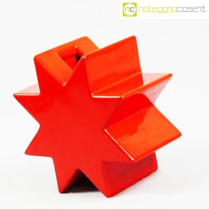 Cedit, vaso Hsing a stella rosso, Ettore Sottsass (3)
