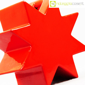 Cedit, vaso Hsing a stella rosso, Ettore Sottsass (5)