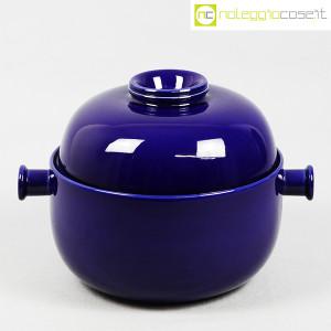 Ceramiche Franco Pozzi, grande contenitore blu serie Forma TR13, Ambrogio Pozzi (1)