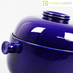 Ceramiche Franco Pozzi, grande contenitore blu serie Forma TR13, Ambrogio Pozzi (7)