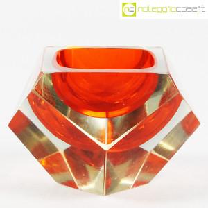 Posacenere sfaccettato in vetro di Murano (1)