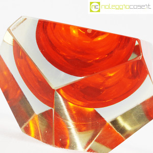 Posacenere sfaccettato in vetro di Murano (5)