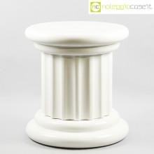 Colonna bassa in ceramica bianca