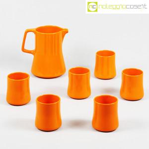 Ceramiche Franco Pozzi, brocca con bicchieri arancione, Ambrogio Pozzi (1)