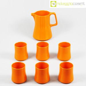 Ceramiche Franco Pozzi, brocca con bicchieri arancione, Ambrogio Pozzi (2)