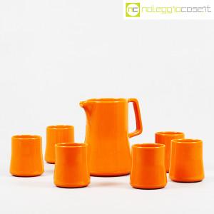 Ceramiche Franco Pozzi, brocca con bicchieri arancione, Ambrogio Pozzi (3)