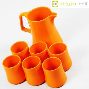 Ceramiche Franco Pozzi, brocca con bicchieri arancione, Ambrogio Pozzi (4)