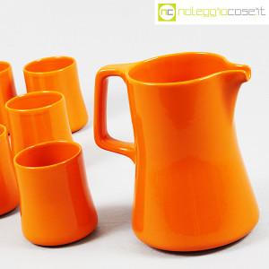 Ceramiche Franco Pozzi, brocca con bicchieri arancione, Ambrogio Pozzi (5)
