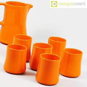 Ceramiche Franco Pozzi, brocca con bicchieri arancione, Ambrogio Pozzi (6)