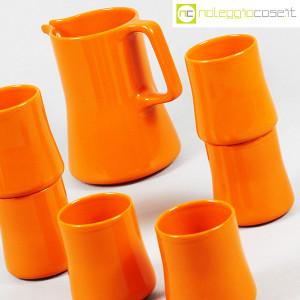 Ceramiche Franco Pozzi, brocca con bicchieri arancione, Ambrogio Pozzi (7)