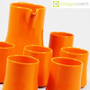 Ceramiche Franco Pozzi, brocca con bicchieri arancione, Ambrogio Pozzi (8)