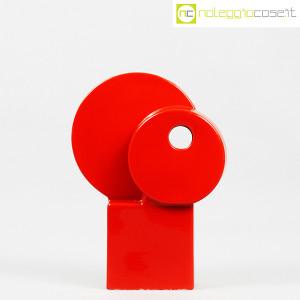 Parravicini Ceramiche, vaso rosso con cerchi e foro (2)