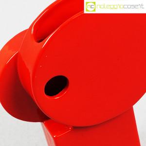 Parravicini Ceramiche, vaso rosso con cerchi e foro (5)