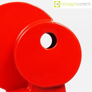 Parravicini Ceramiche, vaso rosso con cerchi e foro (8)