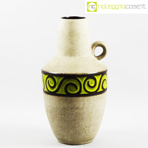 Vaso anfora in gres con decoro verde (1)